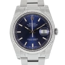 Rolex DATEJUST 36mm Steel & White Gold Blue Index