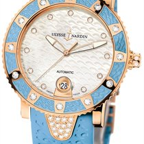 Ulysse Nardin Lady Marine Diver 18K Rose Gold Diamonds