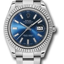 Rolex Datejust II Blue Stick Dial