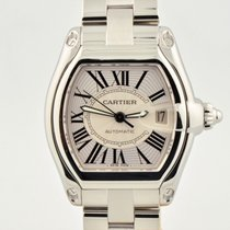 Cartier Roadster Stainless Steel Automatic Silver Sunray Dial...