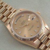 Rolex 18 Karat Day Date Brillantblatt Revision B & P Neu...
