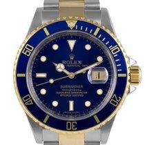Rolex Submariner Bimetal Blue Dial (Gold in Clasp) Ref:16613,...