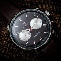Seagull 1963 Air Force Panda Watch 42mm Black Dial