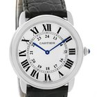 Cartier Ronde Solo Large Stainless Steel Silver Dial Watch...