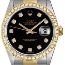 Rolex Datejust Men's Diamond 2-Tone Steel & Gold Watch...
