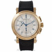 Breguet Marine Chronograph 18K Yellow Gold Silver Dial