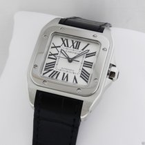 Cartier Santos 100 w20106x8 Midsize Automatic Stainless Steel NEW