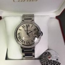 Cartier Ballon Bleu Diamonds 42mm W69012Z4 (1 Mint) + extra dail