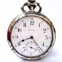 Zenith Antique Pocket Watch  Open Face Art Nouveau Silver 51mm