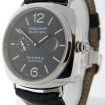 Panerai Radiomir Black Seal 45mm Steel Mens Watch Box/Papers...