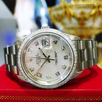 Rolex Oyster Perpetual Date 34mm Mother Of Pearl Diamond...