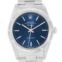 Rolex Air King Steel Blue Dial Oyster Bracelet Mens Watch 14010