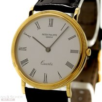 Patek Philippe Calatrava Quartz Ref-3744 18k Yellow Gold Bj-1990