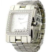 Chopard 288448/20 Happy Sport Square XL with Diamond Bezel -...