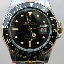 Rolex Vintage Rolex 16753 Gmt Watch 18k Gold And Steel Black...