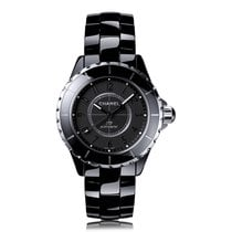Chanel J12 Intense Black Automatic Ladies Watch H3829
