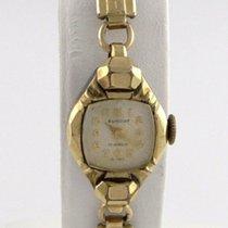 Elmont Ladies 10k Rose Gp Steel Vintage  Manual Wind Watch...