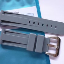 Bodhy Rubber strap in 24mm - Grey with buckle 24/22mm fits...