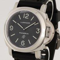 Panerai Luminor Marina Logo Handaufzug Stahl an Kautschukband...