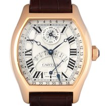 Cartier 18k Rose Gold Tortue Ref W1580045 Perpetural Calender...