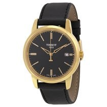 Tissot Classic Dream Black Dial Black Leather Men's