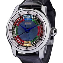 Azimuth Round-1 Grand Baccarat Game Ladies Mid Watch Diamond...
