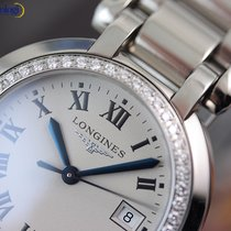 Longines Ladies' PrimaLuna Quartz  30mm Diamond Steel on...