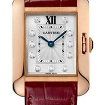 Cartier WJTA0007 Tank Anglaise Small in Rose Gold - on Bordeux...