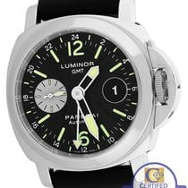 Panerai PAM 88 Luminor GMT Date Automatic Black 44mm Rubber Watch