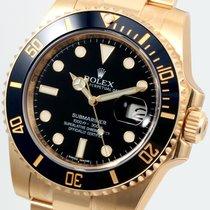 Rolex 18K Yellow Gold Ceramic Submariner Black 116618 Unworn