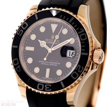 Rolex Yachtmaster Man Size Ref-116655 18k Rose Gold Rubber...