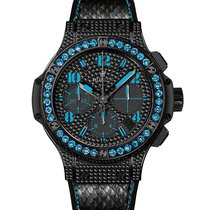 Hublot Big Bang 41mm Fluo  Black PVD Stainless Steel -...