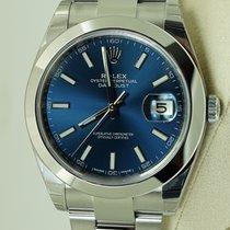 Rolex Datejust 41, Ref. 126300 - blau Index ZB/Oysterband
