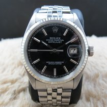 勞力士 (Rolex) DATEJUST 1601 SS Matte Black Dial with Jubilee Band