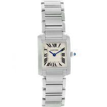 Cartier Tank Francaise Silver Roman Dial Small Ladies Watch...