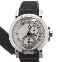 Breguet Marine 5857 Silver Dial Steel Case Data GMT 5857ST125ZU