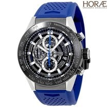 TAG Heuer Men's Carrrera Heuer 01  Blue rubber strap...