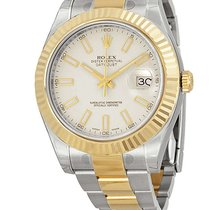 Rolex Date Just II Steel Yellow Gold Ivory index 116333