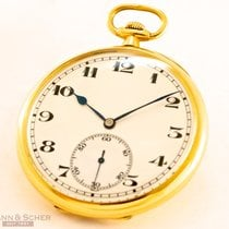 IWC Lepine Pocket Watch 18k Yellow Gold Extract from IWC Bj-1927