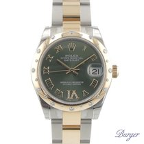 Rolex Datejust 31mm Gold Steel Diamonds NEW