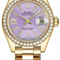 Rolex Lady Datejust 28mm Yellow Gold 279138RBR Lilac 44...