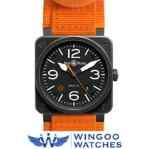 Bell & Ross AVIATION BR03 CARBON ORANGE Ref. BR0392-O-CA