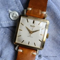 Tissot 14K YELLOW GOLD JUMBO SQUARE AUTOMATIC 31MM 1950's...