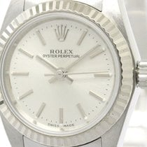 Rolex Polished Rolex Oyster Perpetual 76094 K Serial White...