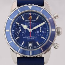 Breitling SuperOcean Heritage Chronograph 44 mm blue Diver rubber