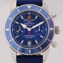 Breitling SuperOcean Heritage Chronograph 44 mm blue Diver rubber