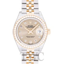 Rolex Lady Datejust Champagne Steel/18k Yellow Gold Dia 28mm -...