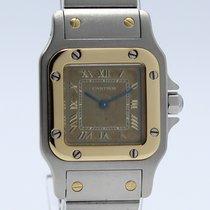 Cartier Santos Galbee Quartz Steel-Gold 1567 Lady