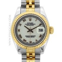 Rolex ladies 18k yellow gold and stainless steel Datejust
