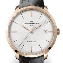 Girard Perregaux 1966 44 MM Pink Gold Dial White Strap Black...